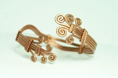 copper cuff adjustable bracelet  // armband // wrist by ArtePora