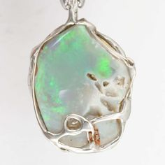 Opal Diamant Anhänger