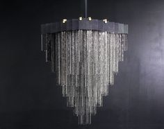 Buy KELLY Chandelier by Gabriel Scott - Made-to-Order designer Lighting from Dering Hall's collection of Industrial Transitional Mid-Century / Modern Chandeliers
