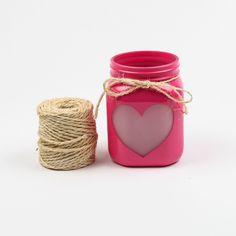 DIY: Valentine's Day Mason Jar Heart Lanterns