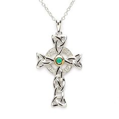 Celtic Cross with Emerald. Want this!!