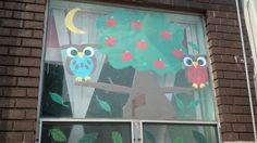 owl window art