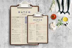 hatch & sons irish kitchen // revert design // art of the menu