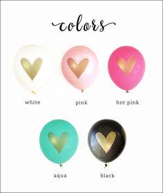Metallic Gold Heart Balloons