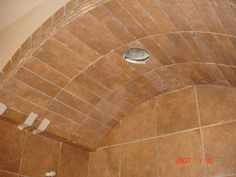 Tile shower arch