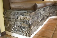 Airstone faux stone application. Tiles, not sheets