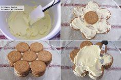 Tarta Galleta Maria Pasos Chilean Recipes, Desserts To Make, Cake Cookies, No Bake Cake, Creme, Bakery, Sweet Treats, Food And Drink, Crack Crackers