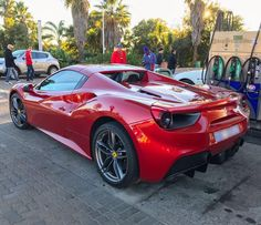 Rosso Fuoco is a mesmerizing hue for a prancing horse  Nice shot by @supercarsofsa  #ExoticSpotSA #Zero2Turbo #SouthAfrica #Ferrari #488spider #RossoFuoco