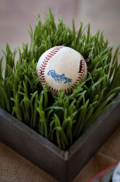 Vintage Sports Themed Baby Shower - The Celebration Society Soccer Centerpieces, Baseball Centerpiece, Baby Shower Themes, Baby Boy Shower, Baseball Birthday Party, Sports Party, Bar Mitzvah, Football Soccer, Soccer Ball