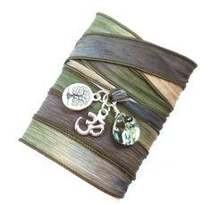 Abalone Shell Silk Wrap Bracelet