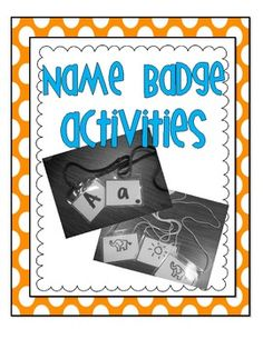 Name Badge Activities- Great activity for learning letters, sounds, and CVC words