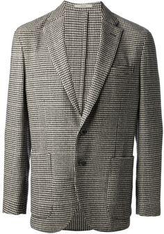 Grey Houndstooth Blazer by Boglioli. Buy for $930 from farfetch.com