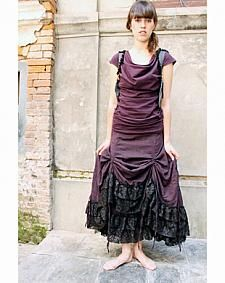Full Length Rail Pull Skirt in Striped Nepali Cotton $125 http://shop.thefairiespyjamas.com/ws-no207-full-length-rail-pull-skirt-in-striped-nepali-cotton-ws-207/dp/9770