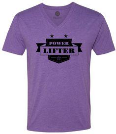Power Lifter (Black) Short-Sleeve V-Neck T-Shirt