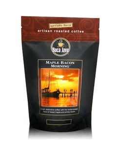"""Boca Java's Maple Bacon Morning Coffee -- Yep, you read that right. """"Maple Bacon Morning coffee combines our 100% Arabica coffee beans with the comforting flavors of maple syrup and bacon."""""""