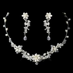 Enchanting Freshwater Pearl and Crystal Wedding Jewelry Set - fabulous for your beach wedding!  - Affordable Elegance Bridal -