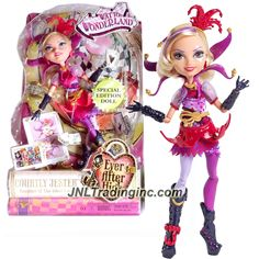 "Mattel Ever After High Special Edition Series 11"" Doll Set - Daughter of the Joker Card COURTLY JESTER (DHD78) with Story Card"