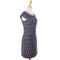 ethical-fashion-Black Woven Ikat Dress - 2
