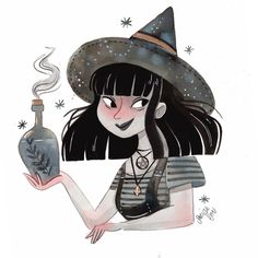 Wiccan, Magick, Witchcraft, Halloween Illustration, Children's Book Illustration, Halloween Art, Halloween Themes, Witch Bottles, The Good Witch