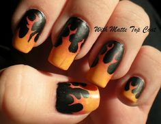 Flame nails tutorial