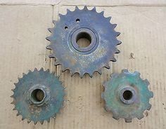 Vintage Rustic Lot Of 3 Cast Iron Industrial Machine Age Gears Steampunk Art!!!