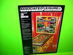 Zaccaria FIRE MOUNTAIN Original 1980 Flipper Game Pinball Machine Flyer RARE  #Zaccaria #Pinball #PinballFlyer @PinballMachineFlyers