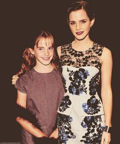 Emma Watson standing next to her 11 year old self. This is creepy and awesome at the same time.