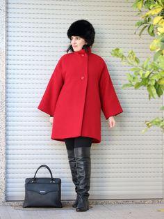 Tany et La Mode: Wearing the red T-coat (self-made, pattern from BCN-Unique) - A usar o Abrigo-T vermelho (feito por mim, molde BCN-Unique), personal style, self-made style, daily looks, estilo pessoal, moda feita em casa, look do dia