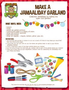 Make a festive Jamaaliday Garland with this FREE download from Animal Jam! Have fun and #playwild!