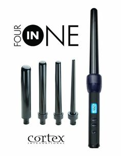 Cortex 4in1 Pro Ceramic Clipless Curling Iron Set with Four Ceramic/Tourmaline Interchangeable Heads, Heat Resistant Glove and 140 - 450 Degree Variable Temperature by Cortex 4in1 Pro. $74.95. Professional Salon Model with Far-infrared technology for consistent heat distribution. Includes 1/2inch, 1 inch, 1.5 inch & 2 inch Heads. Four Professional Ceramic/Tourmaline Interchangeable Heads with Ionic Technology. Adjustable Digital Temperature Display with Programmable Auto Shut-of...