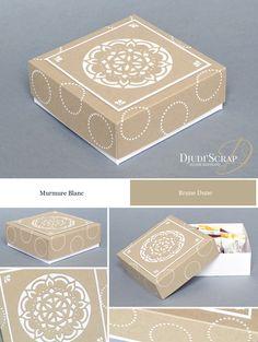 Stampin'Up by Djudi'Scrap - Tutoriel Boîte Chocolats «Thinlits Médaillons de l'Orient / Eastern Medaillons Thinlits»