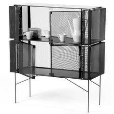 Meike Harde's Metal-mesh Hybrid Cabinet Displays And Protects Its Contents   Decor10 Creative Home Design