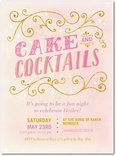 Cake and Cocktails party invitation | Hallmark for Tiny Prints