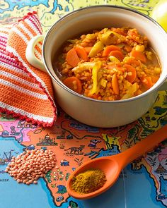 healthy winter dinner: indian curried lentil stew