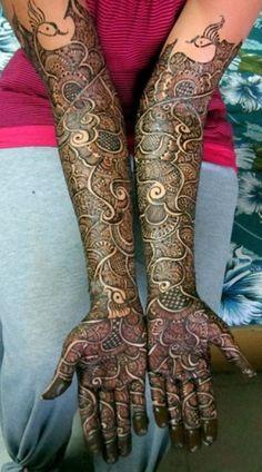 10 Beautiful Rajasthani Bridal Mehandi Designs -COMPLEX