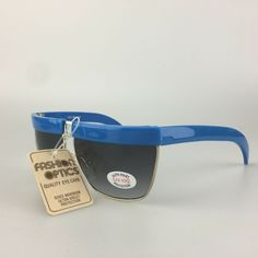 24c0da3e0065b Cool-Ray Vintage Sunglasses mod. 1424 Blue Flat Top Gold Square Shades   affilink