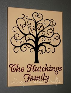 100% Hand Painted Customizable Family Tree from Lucy Belle Crafts www.facebook.com/LucyBelleCrafts