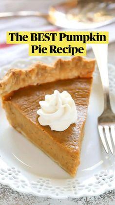 Pumpkin Recipes Easy Quick, Best Pumpkin Pie Recipe, Healthy Pumpkin Pies, Savory Pumpkin Recipes, Homemade Pumpkin Pie, Pumpkin Dessert, Pumpkin Bars, Pumpkin Butter, Pumpkin Pumpkin