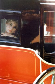 Model wearing jewelry by Cartier and make-up by Helena Rubenstein, Harper's Bazaar, Oct. 1960. Photo by Saul Leiter