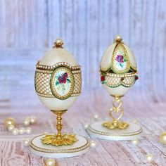 Egg Crafts, Food Crafts, Fabrege Eggs, Types Of Eggs, Egg Shell Art, Egg Art, Egg Decorating, Egg Shells, Design Crafts