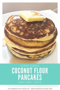 Keto Pancakes Recipe With Coconut Flour and Cream Cheese- Low carb