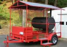 Trailer Build A Smoker, Diy Smoker, Bbq Smoker Trailer, Custom Bbq Pits, Sams, Cookers, Bbq Grill, Grills, Trailers
