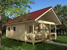 Prefab Small Log Cabin Kits for sale! Tiny House Kits, Tiny House Listings, Tiny Houses For Sale, Cabin Kits For Sale, Small Log Cabin Kits, Small Cabins, Mini Chalet, Plan Chalet, Garden Cabins