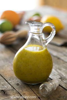 Savory Citrus Dressing | www.afamilyfeast.com | #salad #dressing #citrus