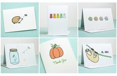 GroopDealz   Set of 10 Note Cards - 6 Designs