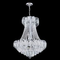 This stunning 11-light Crystal Chandelier only uses the best quality material and workmanship ensuring a beautiful heirloom quality piece. Featuring a radiant chrome finish and finely cut premium grad...