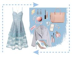 """""""A-Arrow"""" by galia-ivanova ❤ liked on Polyvore featuring self-portrait, Zimmermann, Prada, Missguided, Various Projects, Nine West, Topshop, EF Collection, Guerlain and Too Faced Cosmetics"""