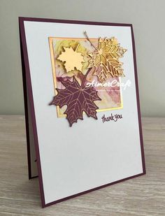 Maple Leaf, Leaf Cards, Die Cut Cards, Stencil Diy, Halloween Cards, Vintage Halloween, Masculine Cards, Greeting Cards Handmade, Handmade Fall Cards