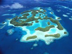 Palau the beautiful island country.