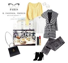 """""""Petit-déjeuner"""" by ellasophialove ❤ liked on Polyvore featuring Balmain, Thom Browne, Chanel, Gucci, Tom Ford and Monki"""